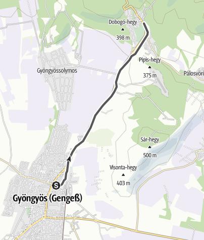 Mapa / Mátravasút (Gyöngyös-Mátrafüred)
