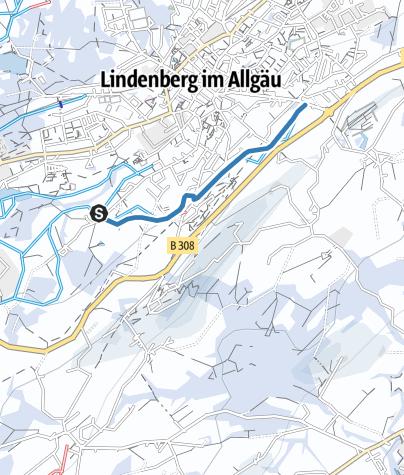 Karte / Lindenberg Zustiegsloipe Lindenalpe - Hallenbad/Hansenweiherloipe