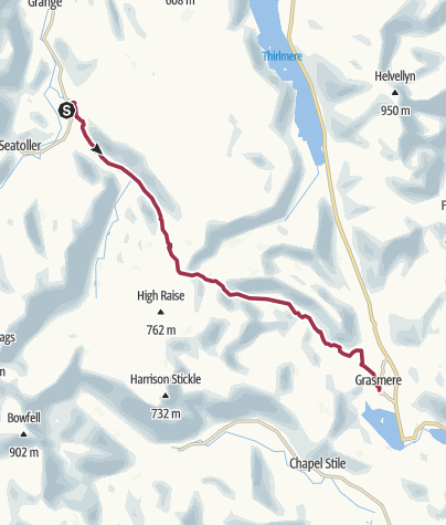 Map / Rosthwaite to Grasmere