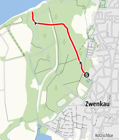 Karte / Naturlehrpfad im Zwenkauer Eichholz