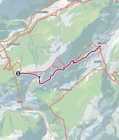 Kaart / Venet-Überschreitung ins Pitztal