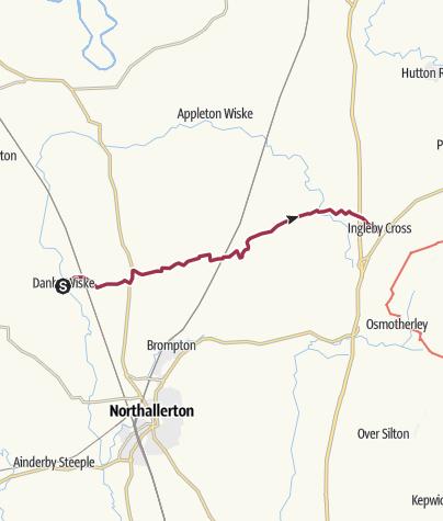 Map / Danby Wiske to Ingleby Cross