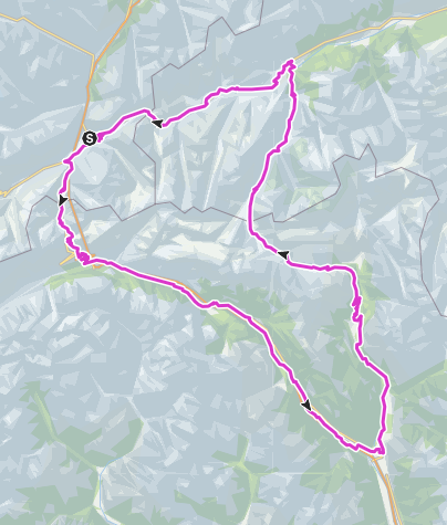 Karte / RadArena/St.Gotthard: Gotthard - Lukmanier - Oberalp
