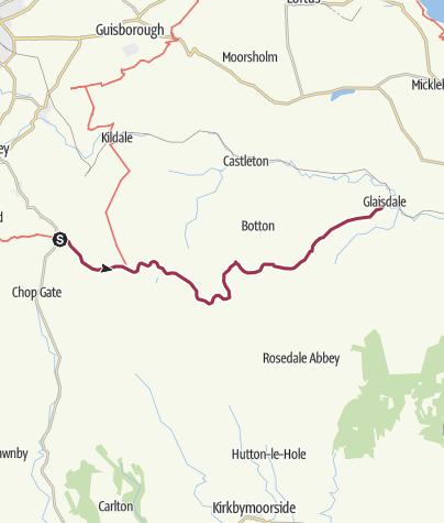 Map / Great Broughton to Glaisdale (via Blakey Ridge)