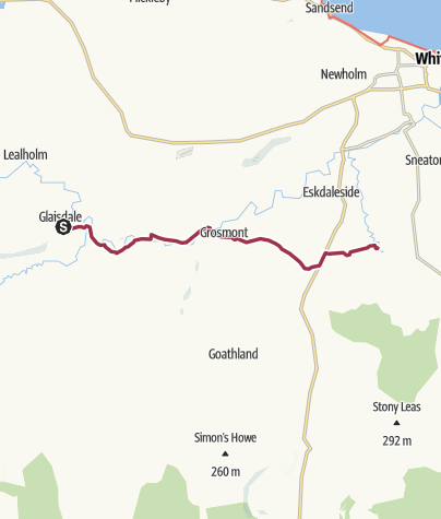 Map / Glaisdale to Littlebeck