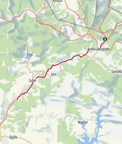 Map / Roncesvalles to Akerreta