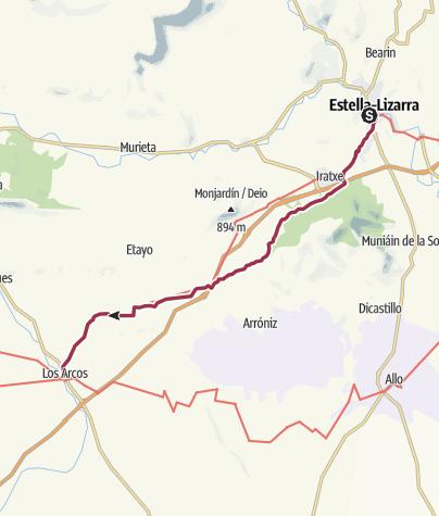 Map / Estella to Los Arcos