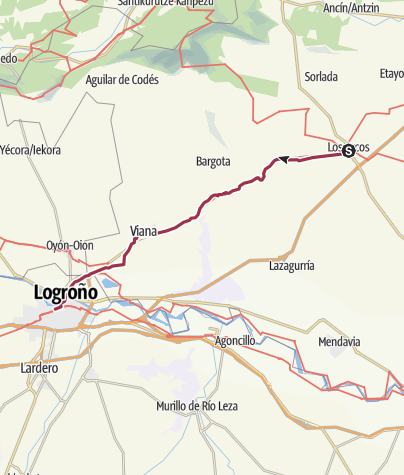 Map / Los Arcos to Logrono