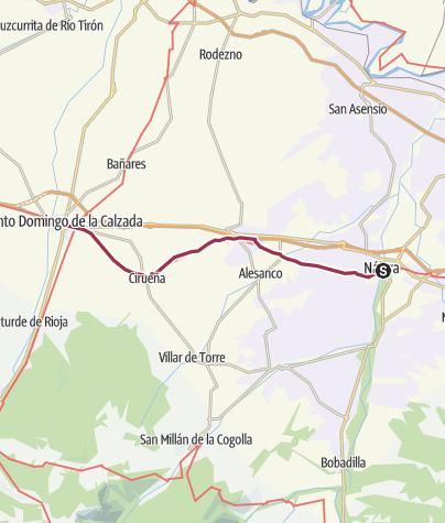 Map / Najera to Santa Domingo de la Calzada