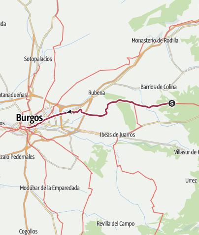 Map / Atapuerca to Burgos