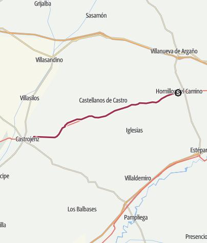 Map / Hornillos to Castrojeriz
