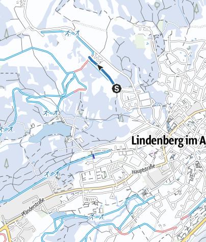 Karte / Lindenberg Zustiegsloipe Spielermoos - Waldsee-Loipe