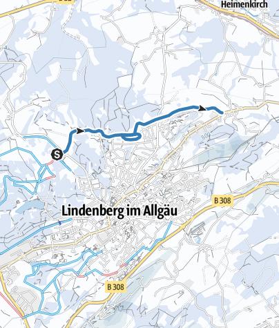 Karte / Lindenberg Loipe Goßholz - Nadenberg - Krankenhaus - zur Waldsee-Loipe