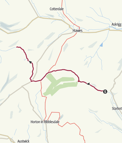 Map / Hubberholme to Dent Head (Cowgill)