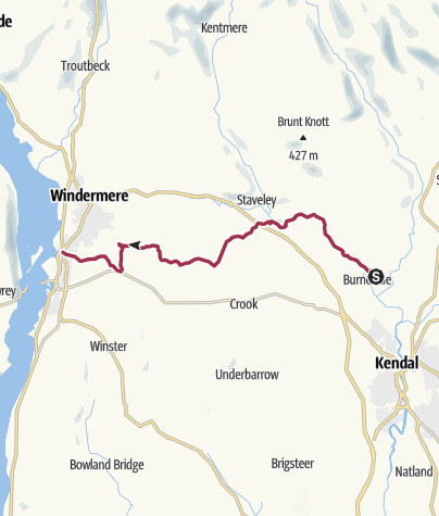 Map / Burneside to Bowness-on-Windermere