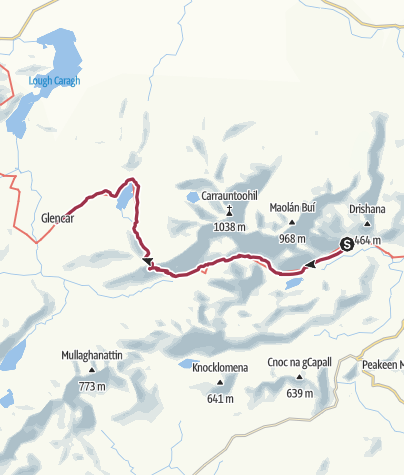Map / Black Valley to Glencar