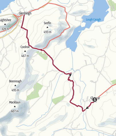 Map / Glencar to Glenbeigh