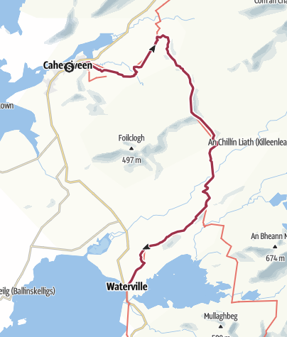 Map / Cahersiveen to Waterville