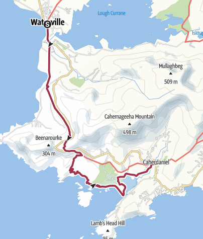 Map / Waterville to Caherdaniel