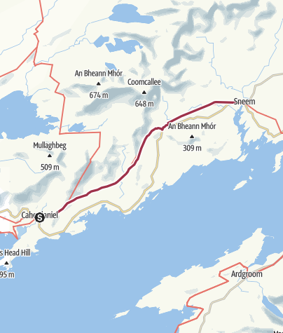 Map / Caherdaniel to Sneem