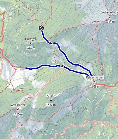 Karte / Übergang von der Hofalm zur Bosruckhütte (über Rohrauerhaus)