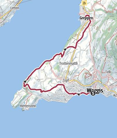 Karte / Weggis - Haldihof - Greppen