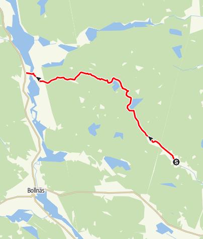 Karta / Trönöleden, Trönö till Orbaden, Vallsta