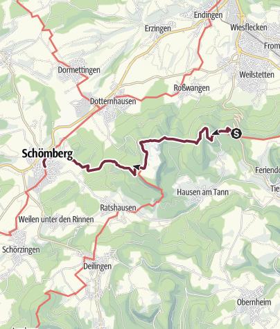 Karte / Albsteig-Appetithappen: Vom Lochenpass nach Schömberg