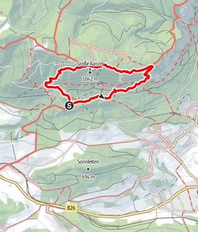"Mapa / Springelessteig Runde ""Panorama Höhenweg"""