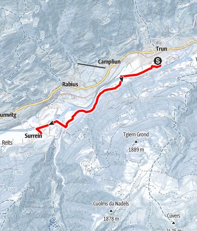 Map / Langlaufloipe Trun - Surrein