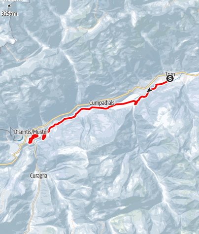 Karte / Langlaufloipe Trun - Disentis
