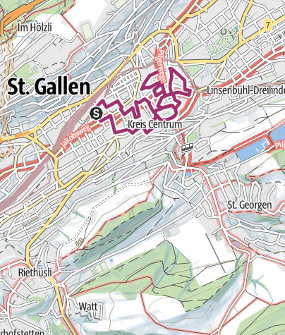 Map / St. Gallen Stadtwanderung