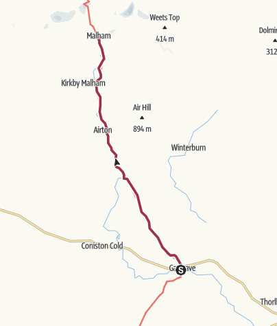Map / Gargrave to Malham