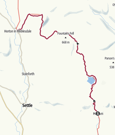 Map / Malham to Horton-in-Ribblesdale