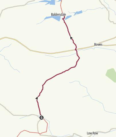 Map / Keld to Baldersdale