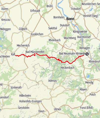 Karte / Ahr-Urft-Weg (11) - Gesamtverlauf