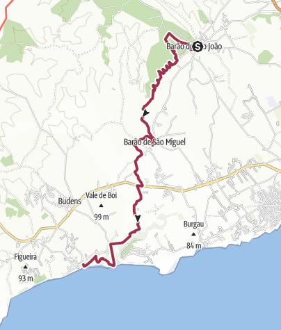 Map / Barão de S.João to Salema via Barão de S.Miguel