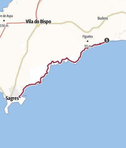 Map / Salema to Sagres