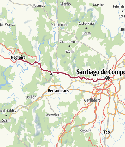Map / Santiago de Compostela to Negreira