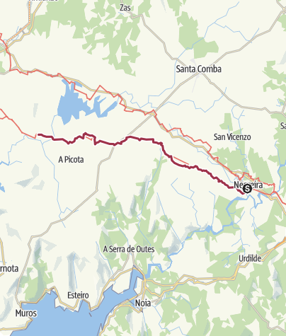 Map / Negreira to Olveiroa