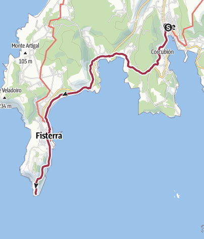 Map / Cee to Finisterre