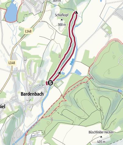 Karte / Traumschleifchen Bardenbacher Fels