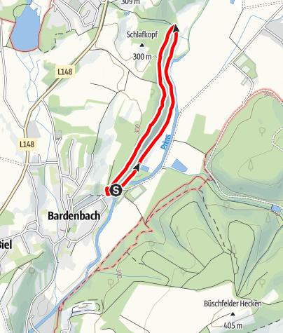 Map / Traumschleifchen Bardenbacher Fels