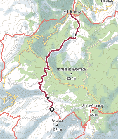 Map / Chipude to Vallehermoso