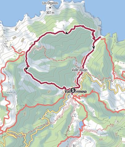Map / Vallehermoso Loop Walk via Santa Clara