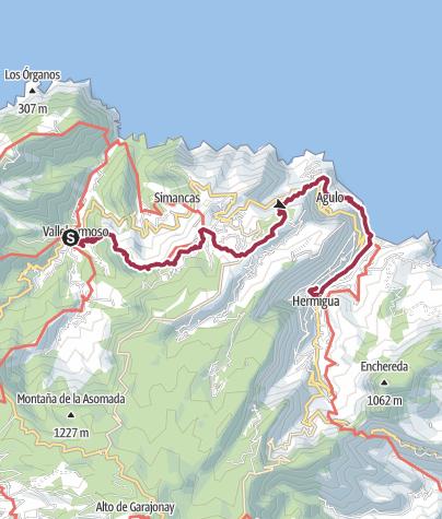 Map / Vallehermoso to Hermigua