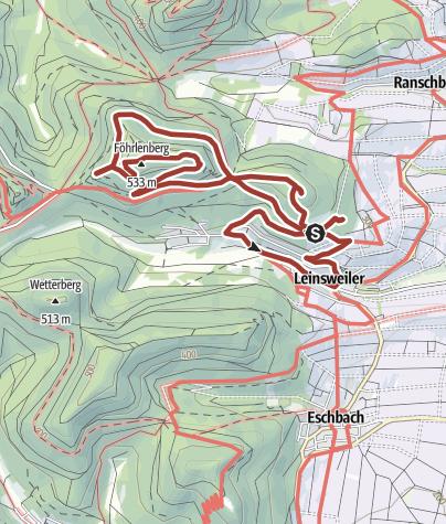Karte / Leinsweiler - Slevogtweg - Auf den Spuren von Max Slevogt