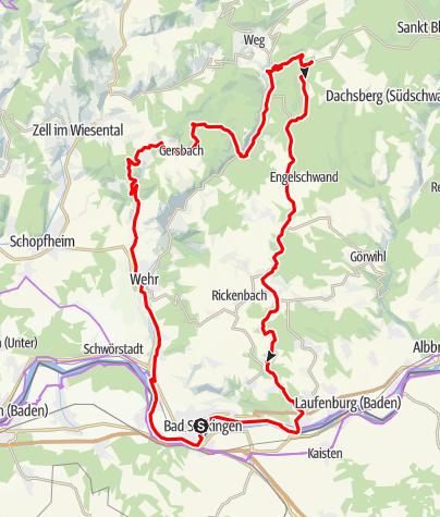 Karte / Mytische Orte am Oberrhein - Bad Säckingen – Todtmoos