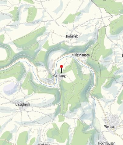 Karte / Burg und Burgpark Gamburg