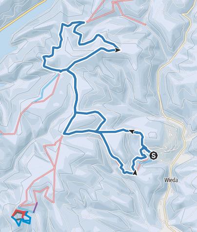 Karte / Loipe zum Stöberhai (Südharz-Loipe)